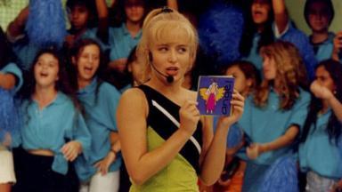 Angélica na Globo no ano 2000 no Angel Mix
