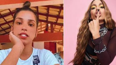 Gabi Pinheiro (esquerda) e Anitta (direita) em foto montagem