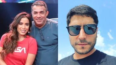 Anitta com seu pai e Thiago Magalhães em foto ao lado