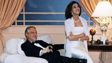Antonio Fagundes e Betty Faria em cena da minissérie Labirinto, exibida em 1998