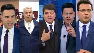 Luiz Bacci, Sikêra Junior, Datena, Marcão do Povo e Geraldo Luis