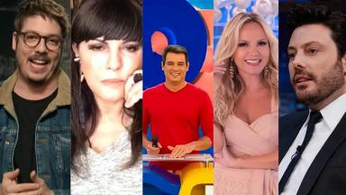 Fábio Porchat, Márcia Goldschmidt, Celso Portiolli, Eliana e Danilo Gentili
