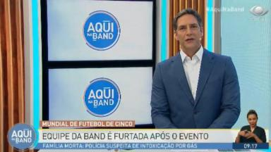 Luís Ernesto Lacombe no programa da Band