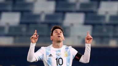 Messi comemorando o gol da Argentina