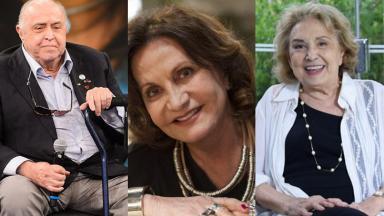 Eva Wilma, Mauro Mendonça e Rosamaria Murtinho em uma foto montagem