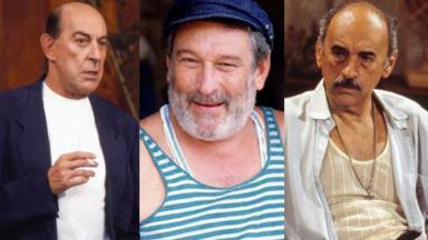 Raul Cortez, Paulo Goulart e Sebastião Vasconcelos em Mulheres de Areia