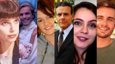 Colagem com atores que mudaram de profissão