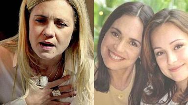 Tela dividida com protagonistas de Avenida Brasil e Por Amor