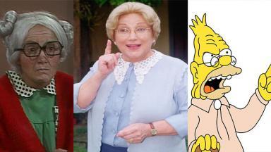 Dona Neves, Dona Benta e o Vovô Simpson