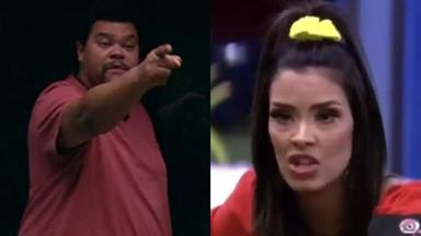 Babu Santana e Ivy durante o reality show BBB20