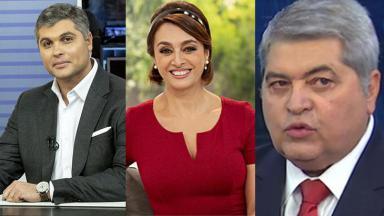 Joel Datena, Cátia Fonseca e José Luiz Datena