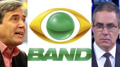 Logotipo da Band, Fabio Pannunzio e Marco Antonio Villa