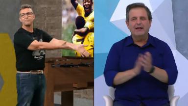 Neto (à esquerda) e Ulisses Costa (à direita) em foto montagem