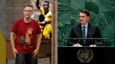 Neto (à esquerda) e Bolsonaro (à direita) em foto montagem