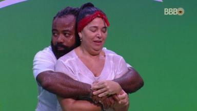 Rodrigo e Tereza na prova do Líder