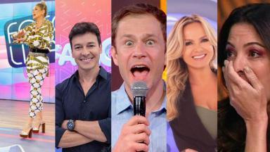 Lívia Andrade, Rodrigo Faro, Tiago Leifert, Eliana e Ana Paula Padrão