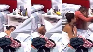 Mari levou banho de copo d'água enquanto dormia no BBB20