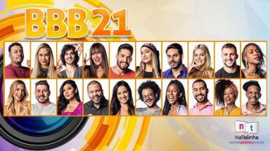 Montagem com todos os participantes do BBB21