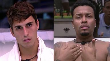 Felipe Prior (à esquerda) e Nego Di (à direita) em foto montagem