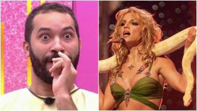 Montagem de Gilberto e Britney Spears