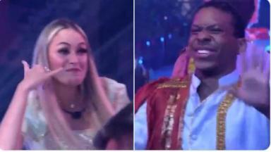 Sarah Andrade e Lucas dançam música dos Barões da Pisadinha
