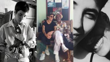 Beatriz Coelho com Antonio e Camila Pitanga em fotos no Instagram