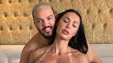 Gracyanne Barbosa e Belo posam juntos de forma sensual