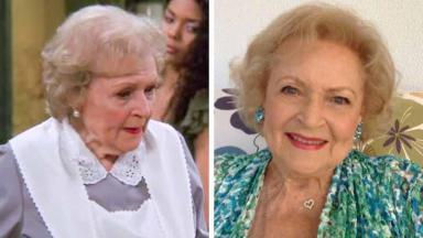 Betty White antes e depois