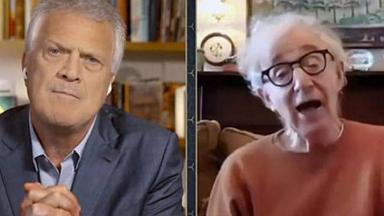 Pedro Bial e Woody Allen no Conversa com Bial