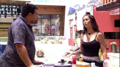 Bianca Andrade e Babu Santana durante o BBB20