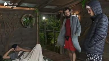 Biel, Cartolouco e Lucas Maciel na Casa da Árvore