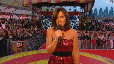 Davina McCall apresentando o Big Brother UK