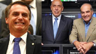 Jair Bolsonaro, Amilcare Dallevo e Marcelo de Carvalho