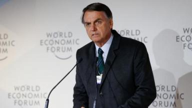 Jair Bolsonaro em fórum econômico