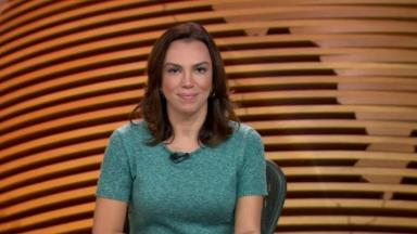 Ana Paula Araújo na bancada do Bom Dia Brasil