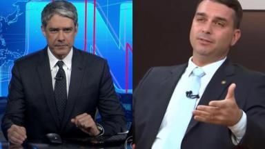 William Bonner e Flavio Bolsonaro