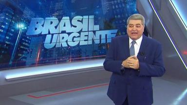 José Luiz Datena no estúdio do Brasil Urgente
