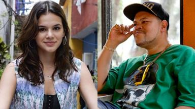 Os atores Bruna Marquezine e Babu Santana