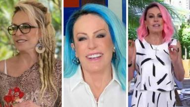 Ana Maria BRaga de dread, cabelo azul e rosa