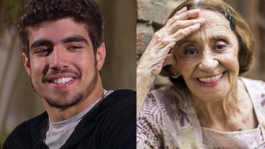 Caio Castro e Laura Cardoso