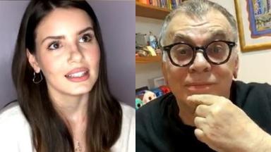 Camila Queiroz e Walcyr Carrasco