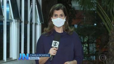 A repórter Camila Bomfim
