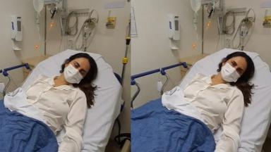 Carla Cecato no hospital