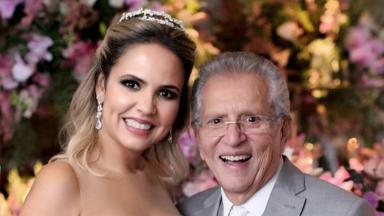 Carlos Alberto de Nóbrega e sua esposa Renata