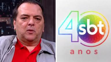 Carlos Bem-Te-Vi e o logo de 40 anos do SBT