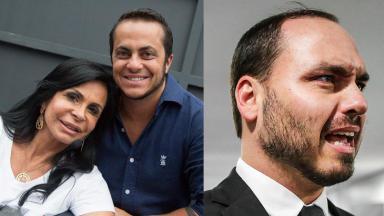 Gretchen, Thammy Miranda e Carlos Bolsonaro