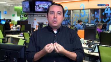 Carlos Cereto gesticulando no SporTV