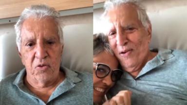 Internado, Carlos Alberto de Nóbrega fez vídeo com a esposa, Renata Domingues
