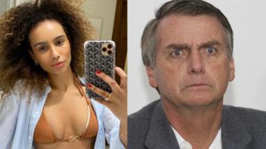 Carol Tozaki e Bolsonaro
