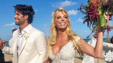 Jorge Sestini e Caroline Bittencourt se casando